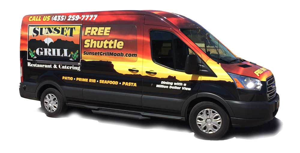 We Offer A Free Shuttle Service From Any Moab Motel Rv Park Or B And Back Again During Normal Restaurant Hours Just Call Us At 435 259 7777 For Prompt